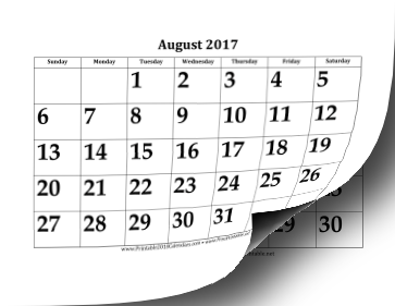 Printable 2017 2018 large academic calendar pronofoot35fo Image collections