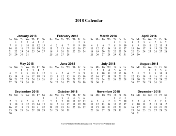 calendar page to print
